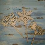 Топпер, снежинка 148х298мм