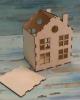 Дом с трубой, съемная крыша110х90х140мм, Ф-3
